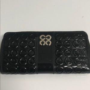 Coach wallet black patent